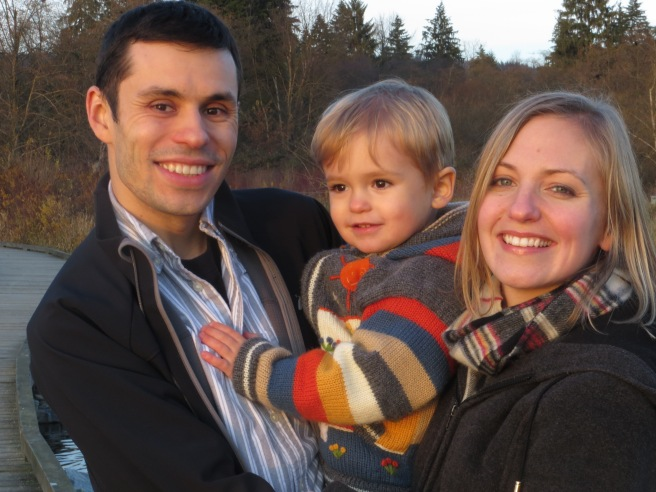 Family Photo: Viorel, Tavi, and me (Burnaby, BC 2012)
