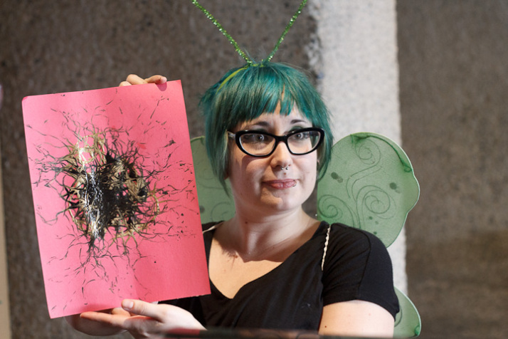 Antonia with the maggot masterpiece (Photo: Sean McCann).