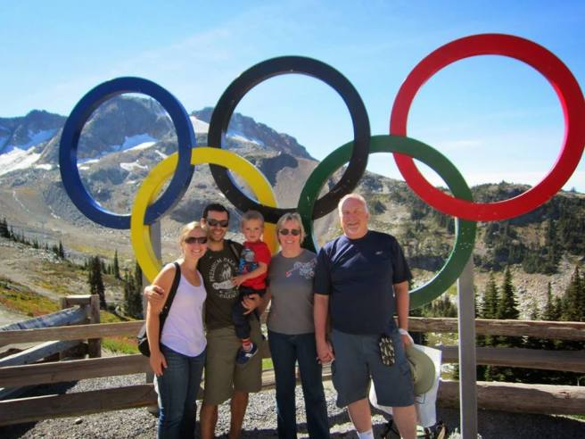 "Whistler Mountain! (With visiting family: Me, Viorel, Tavi, Patsy Brodie [AKA Mangie], Larry Glanville [AKA Poppy ""G"") (Whistler BC 2014)"