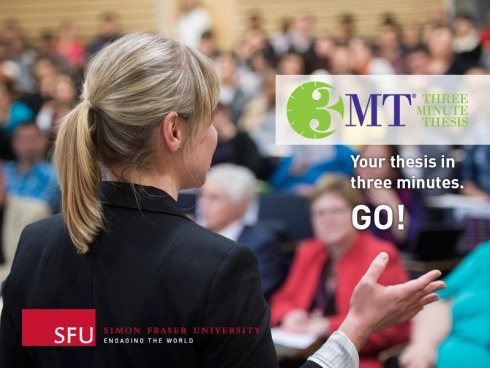 SFU uses the back of my head to advertise 3MT